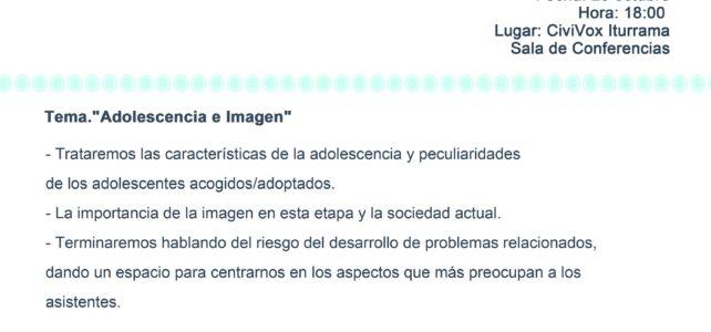 """CHARLA ONLINE: """"Adolescencia e Imagen"""""""
